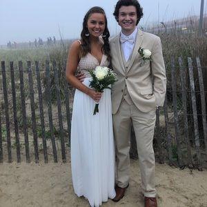 White Prom/ Bridesmaids dress